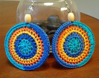 Beachy Crocheted Earrings