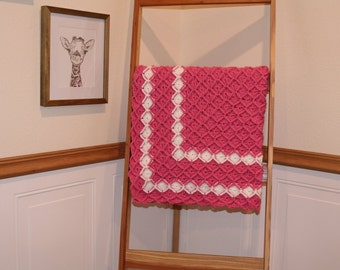 Hand made Bavarian Crochet Heirloom Baby Blanket