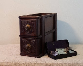 Sewing Machine Drawers with EJ Toof Standard Machine Attachment Parts Box