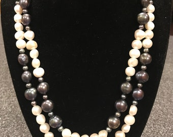 Two Strands Freshwater Pearls Necklace