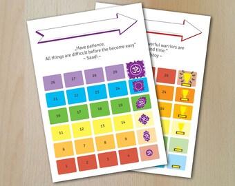 30 Days Challenge Paper / Digital Download / JPG & PDF / DIN A4/A5 / 2 Designs / Bullet Journal / Change your habit / Herausforderung
