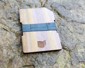 Reclaimed & Recycled Wood Wallet - Custom State Map