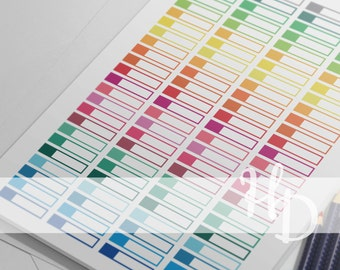 Clear Rainbow Printable Stickers, Printable Planner Stickers, Instant Digital Download