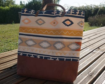 Ethnic patterned tote bag