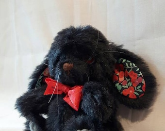 PENNY, A hand made, character artist, teddy,rabbit,made from Steiff schulte mohair fabric, glass eyes, fully articulated head arms and legs,
