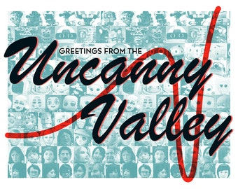 Greetings from the Uncanny Valley Postcard