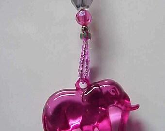 Elephant (many colors) Beaded Fan or Light Pull Single