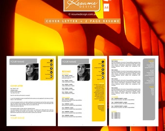 Resume Design Creative Template 6 Professional | Resume Writing | Cover Letter | Resume Design Service | Resume Design Package