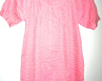 Vintage pink boho hippie style tunic dress size small