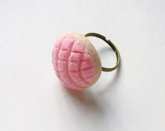 Concha Pan Dulce Ring Miniature Food Jewelry Polymer Clay