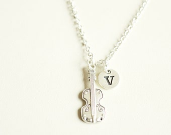 Violin Necklace, Violin Gift, Violin Jewelry, Gift for Violinist, Cello Gift, Cello Necklace, Cello Jewelry, Music, Personalized, Violinist