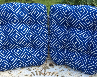 Pillows Blue and White Percale Cushions