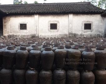 Wuzhen Photography - Wine Barrel - China - Distillery - Winery - Asian Fine Art Photography