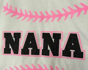 Nana baseball shirt nana softball shirt new personalized with name and number