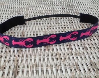 Pink Lobster Headband - Girls Nautical Headband
