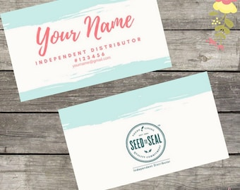 Young Living Essential Oil Business Card-Template-Download-Custom
