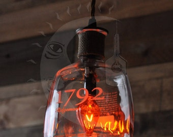 Recycled Bottle Lamp, 1792 Hanging Pendant