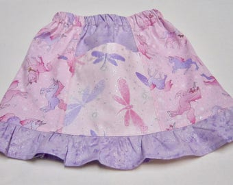 Girls Pink Unicorn Pocket Skirt With Sparkles in Sizes 18 Months  2  3  4  5