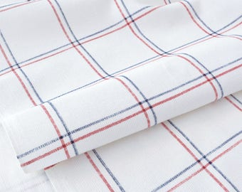 Corduroy fabric super soft Plaid White x 50cm