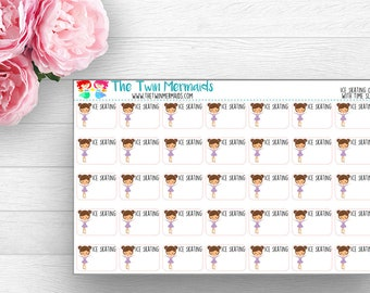 swim class girl with time slot planner stickers