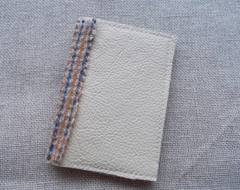 Genuine leather and Harris Tweed wallet