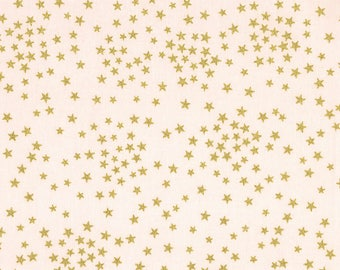 Metallic Stars on Pink from Timeless Treasures Fabrics