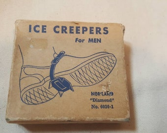 "Vintage Ice -Creepers for Men  NOS Norland Co. ""Diamond"" No.6030-1"