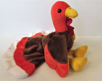 Beanie Babies - TY Beanie Gobbles - 1996  - With Tag Errors    /MEMsArtShop.