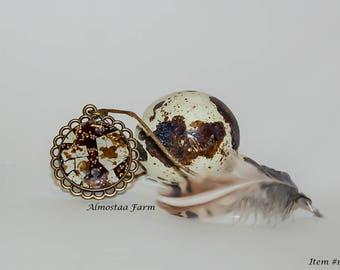 Quail Eggshell Necklace #102