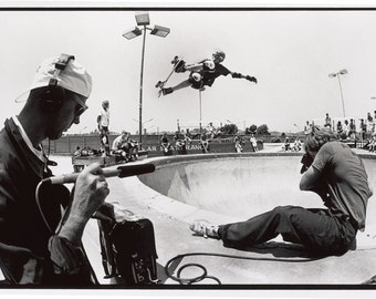 "Tony Hawk Air Fakie Skateboarding Photograph - 18 x 24"" Eighties Skateboard Photograph - Tony Hawk Print"