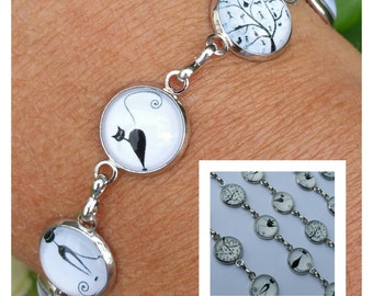 """Crominou"" glass cabochon bracelet"