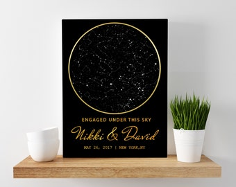 Star Map Gift, Custom Star Map, Night Sky Map, Personalized Gift, Unique Gift, Custom Gift, Engagement Gift, Night Sky Gift,Wedding Gift 08G