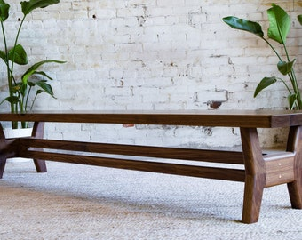 "Midcentury Modern Bench, Modern Bench, Walnut Bench, Dining table bench, Entryway bench, Bench, ""The Continental"