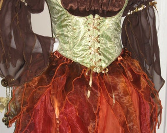 DDNJ Choose Your Color(s) Short Fairy Skirt Plus Custom Made ANY Size Renaissance Pirate Gypsy Witch LARP Cosplay Costume Halloween