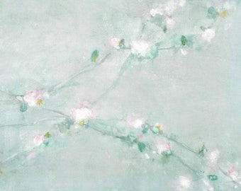 Spring. Original painting on paper.  Pastel colors