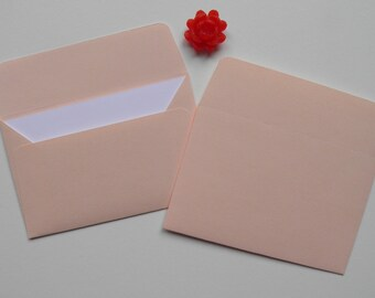 Salmon gift card envelopes with inserts, Salmon mini envelopes, Paper Ephemera, Paper Embellishments, Party favors, Sets of 50