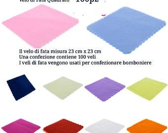 Veils of fairy cm23x23 squares (Pack of 100 veli)