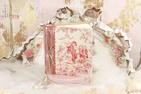 Wedding guest book note book secret book or guest book toile de jouy
