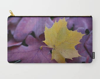 Fall Accessories Bag,  Makeup Bag Large, Nature Photography Fall Leaves Photo Gifts For Mom Zipper Pouch Bag Midwest Finds Fall Gift for her