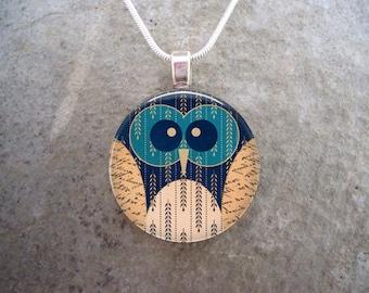 Owl Jewelry - Glass Pendant Necklace - Owl 4