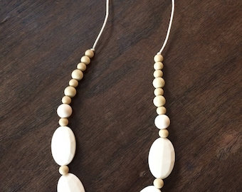 Cream Soda Teething Necklace