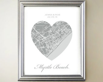Myrtle Beach Heart Map