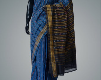 Pure cotton sambalpur ikkat saree