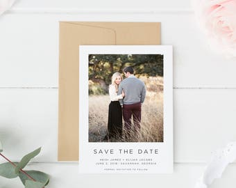 Printable Save the Date | Save the Date Photo Card | Photo Save the Date | Save the Dates | Wedding Announcement | Wedding Announcements