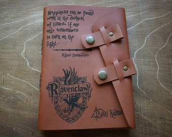 Leather Harry Potter notebook/Personalized Harry Potter journal/Harry Potter sketchbook/Leather A5 journal/Potter fun's gift