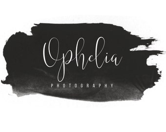 Pre-made Logo Design | 'Ophelia' | Watercolour Logo | Photography Logo | Blog Header | Business Branding | Branding Design | Custom logo