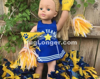 ITH 18 inch doll Sports Fan Hand and Banner HL2063 embroidery files