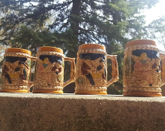1950s German Style Beer Steins (Japanese Made)