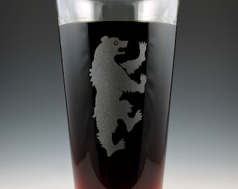 House Mormont Game of Thrones Dual Sided Pint Glass