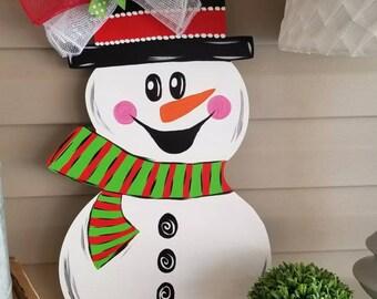 Snowman door hanger & Snowman door decor   Etsy
